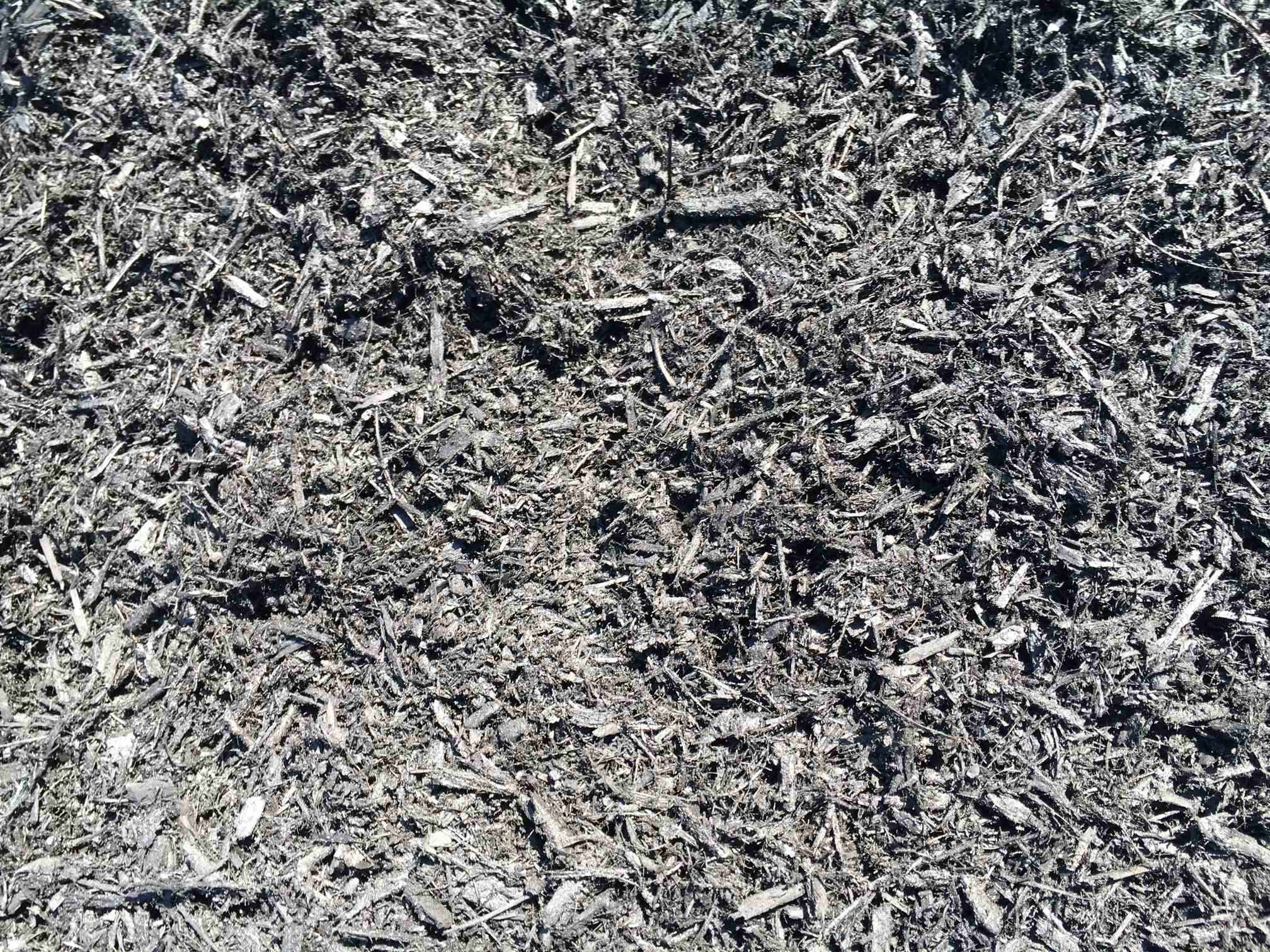 Triple Shredded Premium Black Dyed Mulch